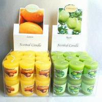 Buy cheap Scented Votive Candle Gift Set in PET Box with Color Backboard from wholesalers