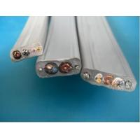 Buy cheap Flat Flexible Traveling Elevator Cable with TV Camera Cable in Grey Color from wholesalers