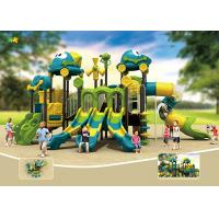 Buy cheap Powder Coated Plastic Playground Slide Round Curved Edge Rigorous Material from wholesalers