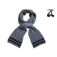 Buy cheap Men Cable Knitted Neck Scarf , Thick 100% Acrylic Chunky Knitted Winter Scarf from wholesalers