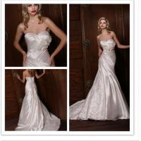 Empire Waist Pleated Simple Elegant Wedding Dresses of Wipes Bosom Manufactures
