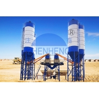 Buy cheap HZS50 50 m3/H Stationary Concrete Batching Plant, Portable Concrete Batching product