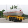Buy cheap Transportation Fuel Petroleum / Gas Tank Truck Capacity 58300L / Semi Trailer from wholesalers