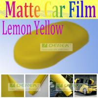 Buy cheap China Derek matte finish yellow Bubble free polymeric pvc vinyl sticker for car protector from wholesalers