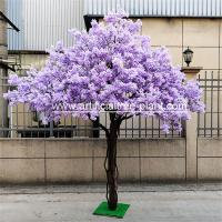 Buy cheap Safe Jacaranda Wood Purple Artificial Flower Tree Fire Retardant product