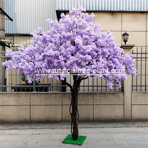 Quality Safe Jacaranda Wood Purple Artificial Flower Tree Fire Retardant for sale