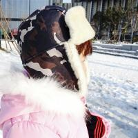 Buy cheap Classical Female Sheepskin Shearling Trapper Hat For Kids ODM Designs from wholesalers