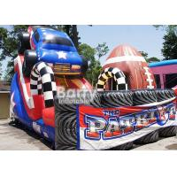 Buy cheap Giant Colorful Children 18ft Patriot Monster Truck Inflatable Slide With CE Certificate from wholesalers