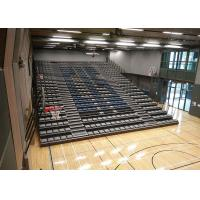 Buy cheap Upholstered Padded Indoor School Bleachers / Power Control Retractable Bleacher Seating from wholesalers