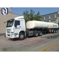 Buy cheap 12 Tires SINOTRUK 3 Axles Fuel Semi Trailer Truck Tri - Axle Tank Capacity 40 - 60 CBM from wholesalers