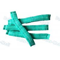 Buy cheap Green Single Elastic Disposable Mob Cap , Doctor Bouffant Disposable Hair Cover from wholesalers