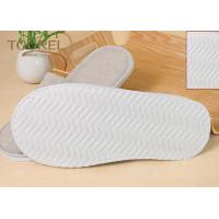 Buy cheap Grey Closed Toe Disposable Hotel Slippers Terry Towel Extra Size from wholesalers