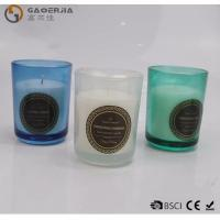 Buy cheap Smokeless Color Spraying Glass Cup Paraffin Wax Candle No Harmful from wholesalers