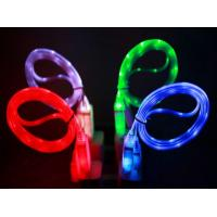 Buy cheap USB LED Light Cable Sync Data Charge Charging Cable Cord for iphone 6 samsung J7 Sony HTC from wholesalers