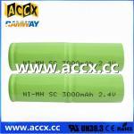 Buy cheap 2.4v nimh sc 3000mAh battery pack from wholesalers