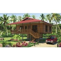 Buy cheap Light Steel Frame Wooden Home Beach Bungalows With Shower , Kitchen product