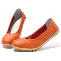 Buy cheap Low Heeled Leather Comfortable Casual Shoes Flat Gum Rubber Outsole Womens Shoes product