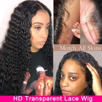 Buy cheap T Part Curly Lace Front Wigs Human Hair Wigs from wholesalers