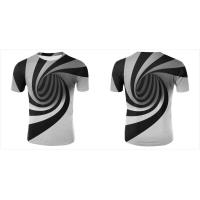 Buy cheap 3D V Neck Men Women Custom Sublimated T Shirts Hypnotic Funny Printing Short Sleeve from wholesalers