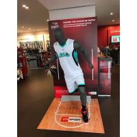 China Jolly mannequins-grey matte male sport mannequin/playing basketball mannequin H-6 with head on sale