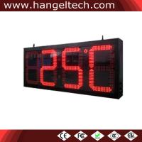 Buy cheap 24 Inches Digit Outdoor Large Digital LED Time And Temperature Sign from wholesalers