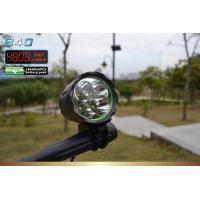 Buy cheap 8800mAh Front LED Road Bike Lights 10 W 4800 Lumens with 4X Cree XM-L T6 LED from wholesalers