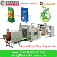CY180 Roll feeding square bottom paper bag making machine Manufactures