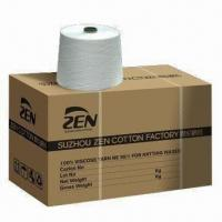 Buy cheap Siro Spun Viscose Yarn, Waxed for Knitting, with Less Hairiness from wholesalers
