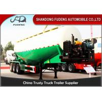 Buy cheap Diesel Engine Bulk Cement Tanker Trailer With Air Compressor Volume 45 CBM - 65 CBM from wholesalers