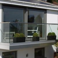 Wholesale Exterior aluminum u channel tempered glass balcony design from china suppliers
