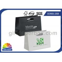 Buy cheap Hot Stamping Die Cut Handle Printed Paper Bags White Or Black With Art Paper from wholesalers