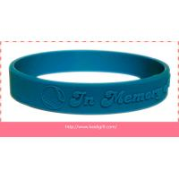 China embossed silicone wristband bracelet without color filling on sale