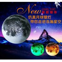 3D moon wall lamp,Discoloration remote control moon light,moon light Manufactures