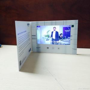 HD folheto video de 1024 x de 600 LCD com tela video, cartões de Digitas