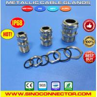 Buy cheap Liquid-tight IP68 Metal / Brass Cable Glands with PG & Metric Threads from wholesalers