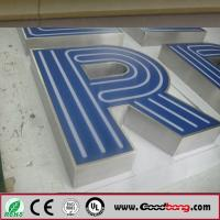 Buy cheap outdoor vacuum forming embossing acrylic letter bulb sign from wholesalers