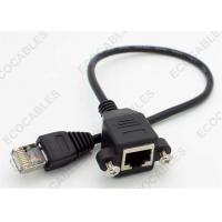 Ethernet Panel Mounted Male To Female Signal Cable ISO9001:2008 RoHS Compliant Manufactures