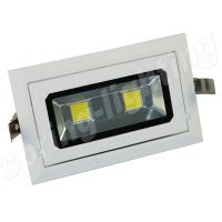 Buy cheap 40w Rectangular Led Recessed Downlight LED Ceiling Light Fixtures CE ROHS C-tick from wholesalers