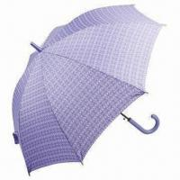 Wholesale Straight Automatic Umbrella with Black Shaft, Color Matching Crook Handle and 56cm x 8 Ribs Size from china suppliers