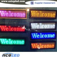 Buy cheap Multi-language Programmable pin and magnet fixed led name tags from wholesalers