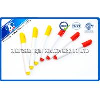 Buy cheap 9.8cm Red / Yellow Refill Whiteboard Marker Pens With Cap  For Students With EN71 Certification  from wholesalers