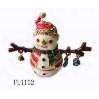 Buy cheap Christmas Festival Sownman Home Decorative Metal Figurines from wholesalers