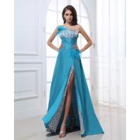 Slim Chiffon Fabric Evening Party Dresses , Blue Heart-Shaped Markings Bra Sexy For Birthday / Evening Party Manufactures