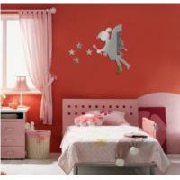 Buy cheap Hot sale fairy with stars PS wall decal1MM thickness 3D mirror stickers stars home decor from wholesalers