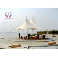Double Ridge Roof Building Shade Structures , Steel Sling Car Wash Shade Structures Manufactures