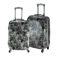 Wholesale Steel Trolley System 210D Print Luggage Sets from china suppliers