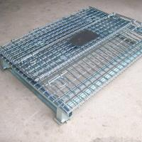 Buy cheap Foldable Wire Mesh Storage Cages Hot Dip Galvanizing  500 Kg-1500 Kg Capacity from wholesalers