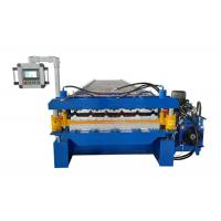 Buy cheap Rib Roof / Corrugated Sheet Roll Forming Machine Weight 9600kg With PLC Touch Screen from wholesalers