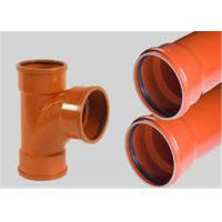 Buy cheap Drainage Odorless Upvc Plastic PipeWide Water Flow Low Friction Losses from wholesalers
