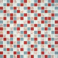 """Buy cheap 5/8""""X5/8"""" Glass Stone Blend Mosiac Kitchen Tiles from wholesalers"""
